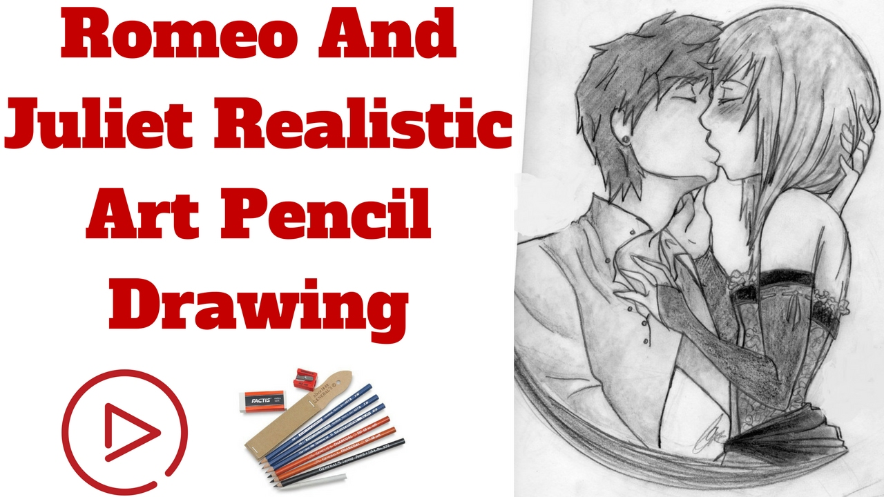 1280x720 Romeo And Juliet Realistic Art Pencil Drawing Draw Sketch