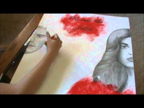 480x360 Romeo and Juliet Poster Drawing Romeo