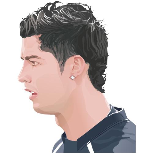 500x500 Cartoon Pictures Of Cristiano Ronaldo