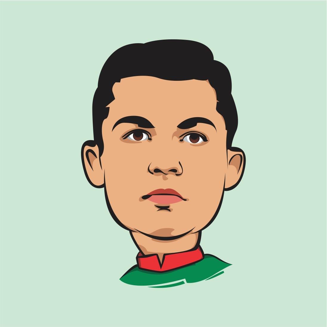 1097x1097 How To Draw Simple Cartoon In Coreldraw Cristiano Ronaldo