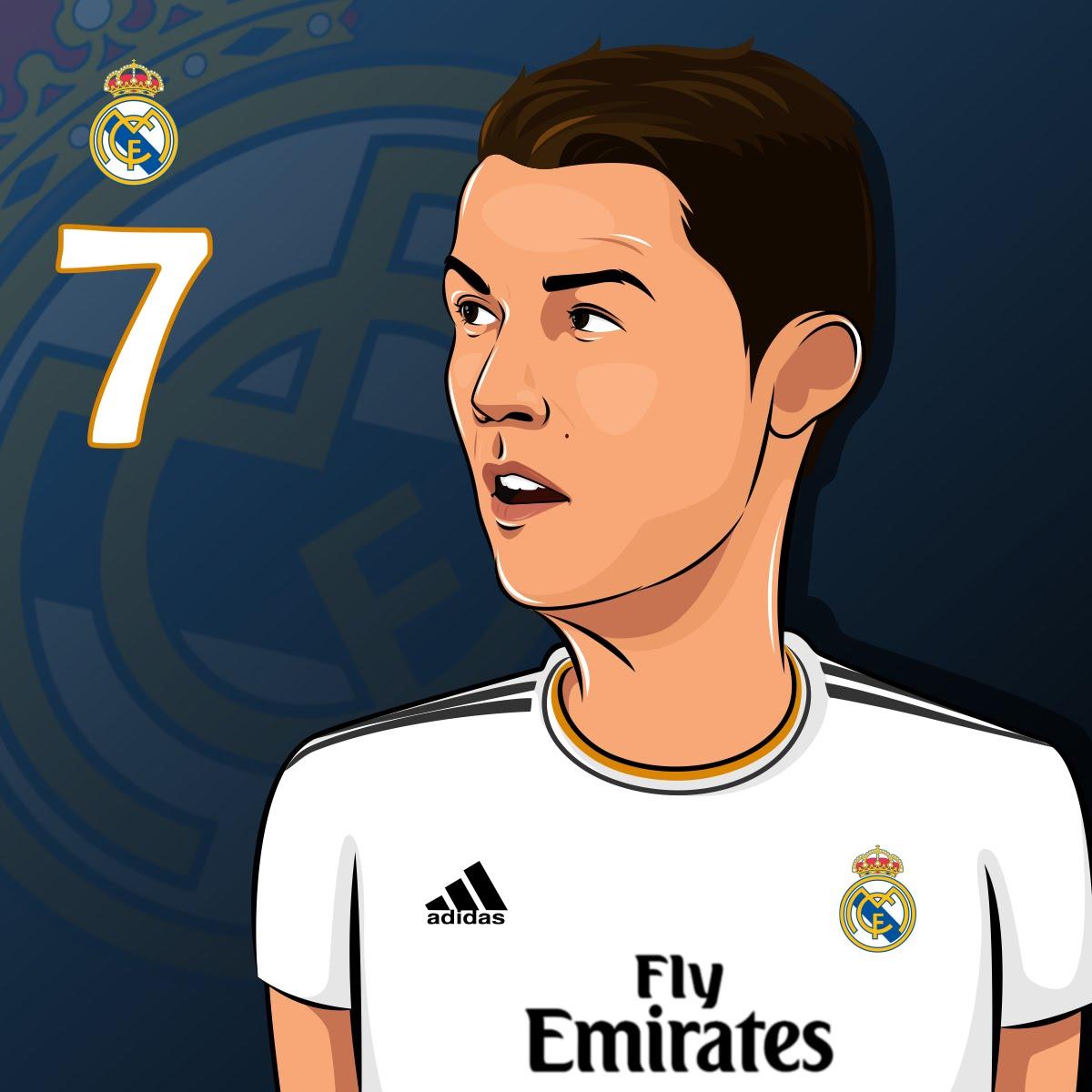 1200x1200 How To Draw Simple Cartoon Cristiano Ronaldo