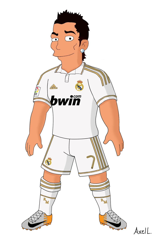 1005x1554 Cristiano Ronaldo Simpsons Cartoon