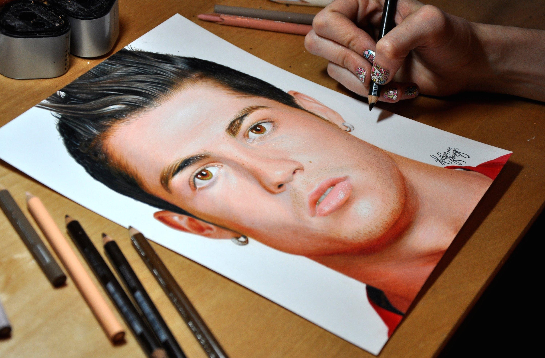 3000x1974 Drawing Cristiano Ronaldo