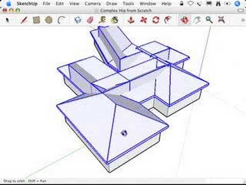 480x360 Sketchup Complex Hip Roofs And The Follow Me Tool
