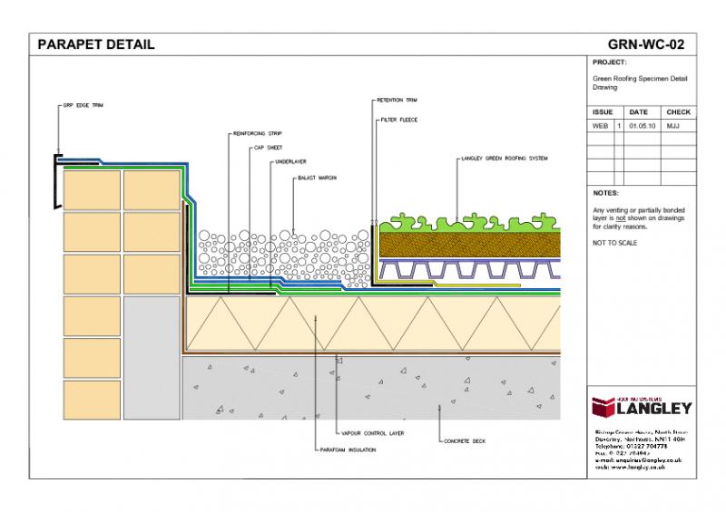 800x565 Green Roof Parapet Detail