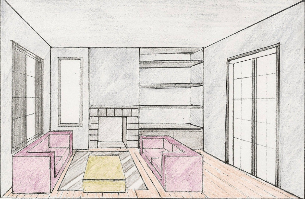 Room Perspective Drawing at GetDrawings.com | Free for ...