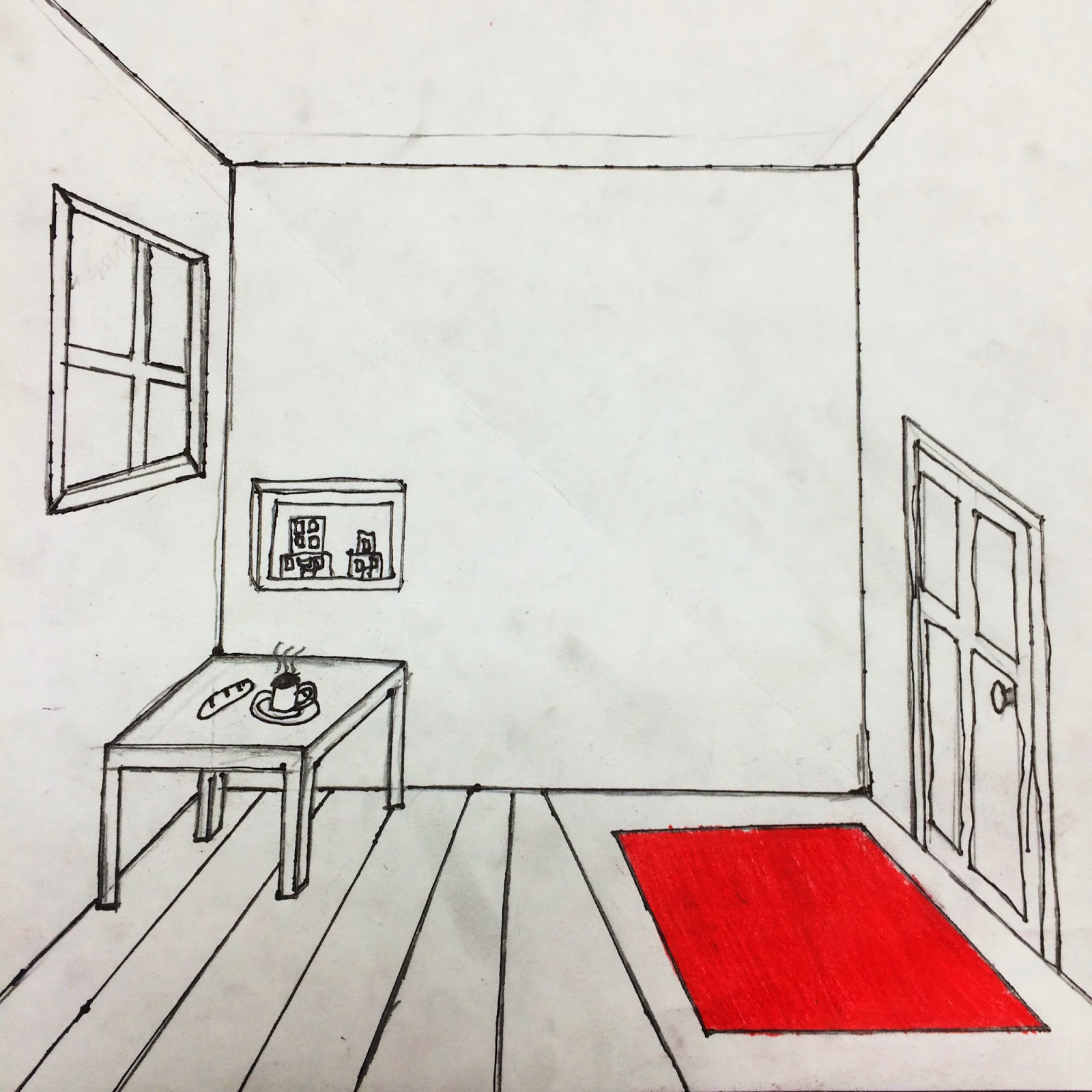 One Point Perspective Bedroom: Room Perspective Drawing At GetDrawings.com