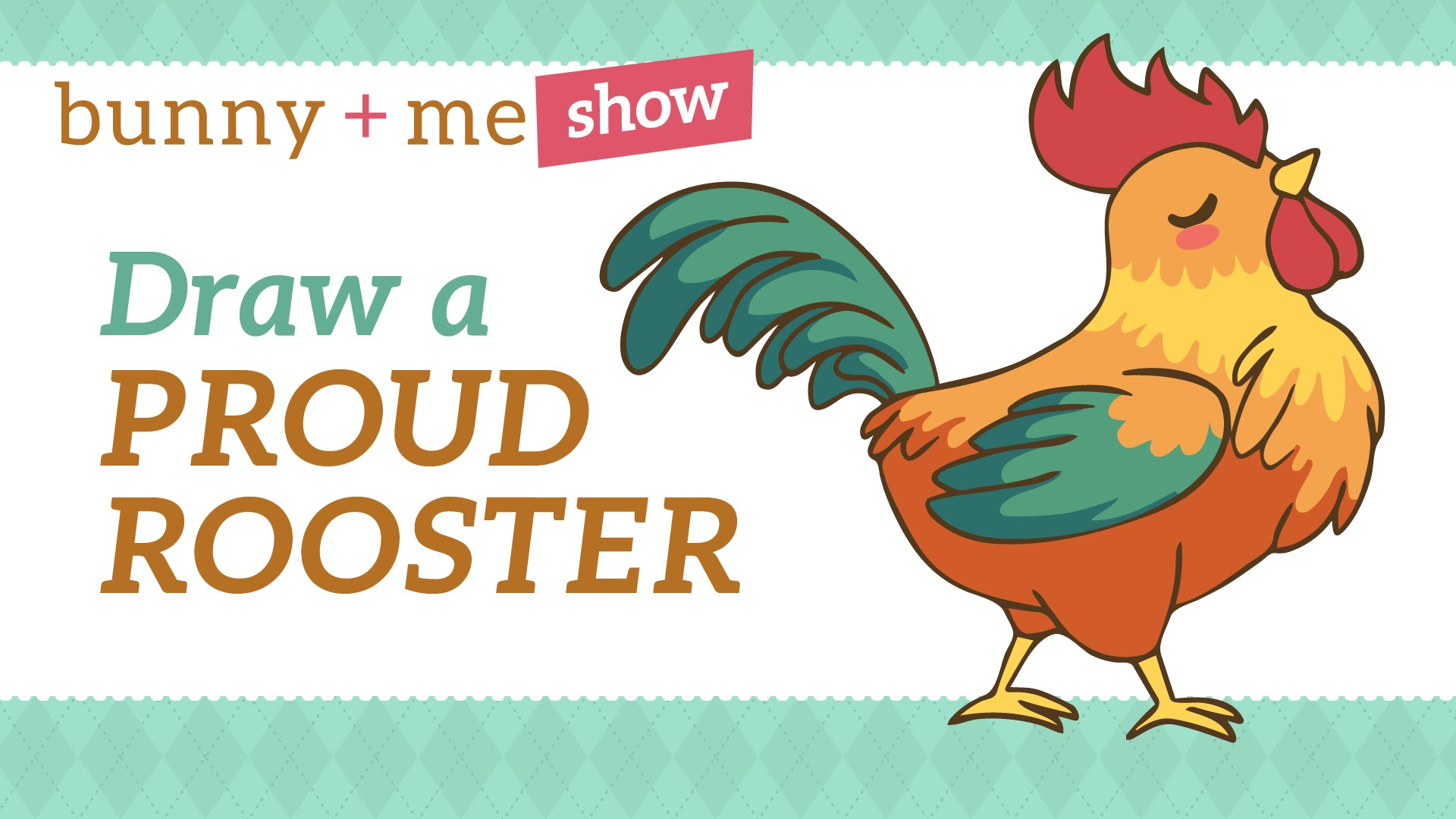1920x1080 How To Draw A Cute Proud Rooster