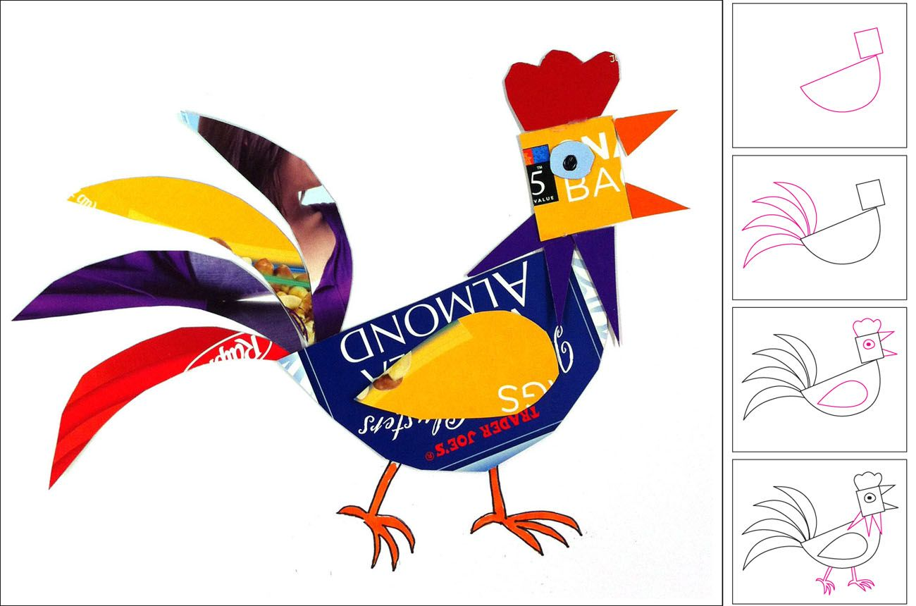 1300x860 Art Projects For Kids Recycled Rooster Farms Amp Farm Animals
