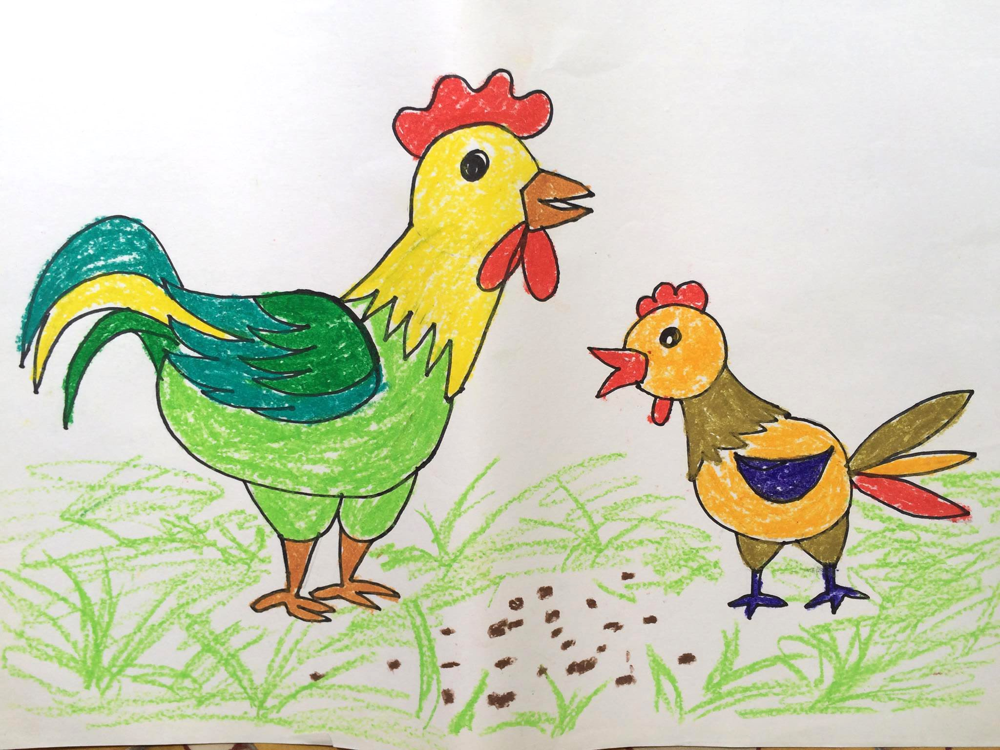 Rooster Drawing For Kids at GetDrawings.com   Free for personal use ...
