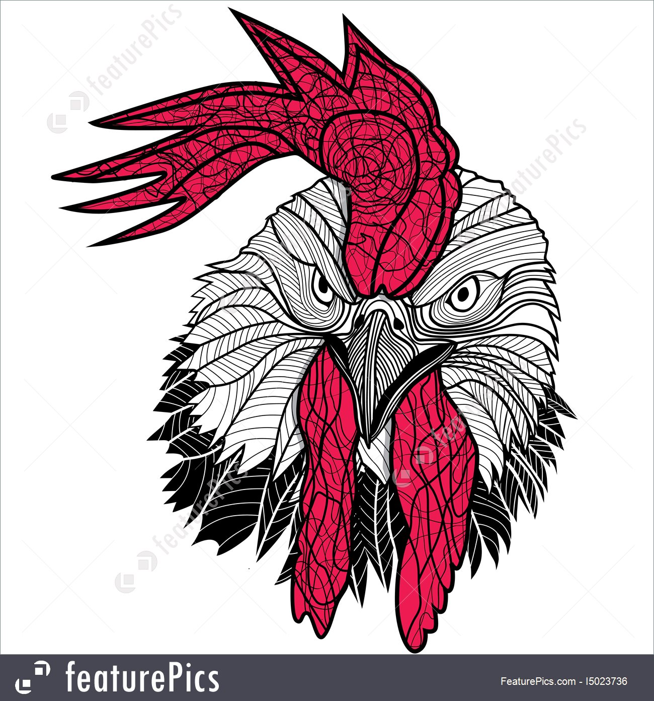 1300x1392 Chicken Rooster Head Design For T Shirts Isolated On White