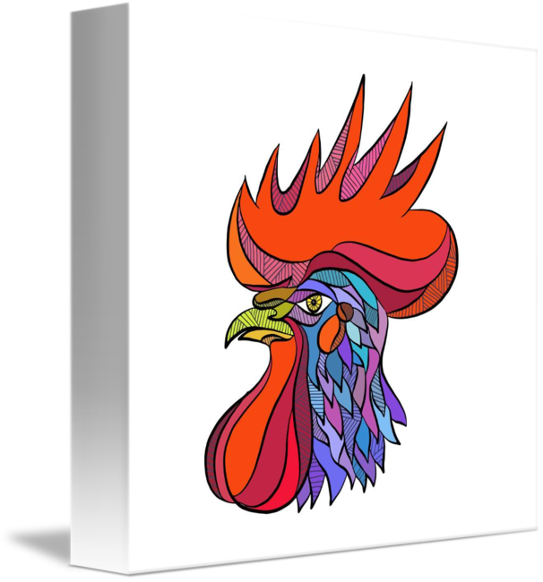 606x650 Chicken Rooster Head Side Drawing By Aloysius Patrimonio