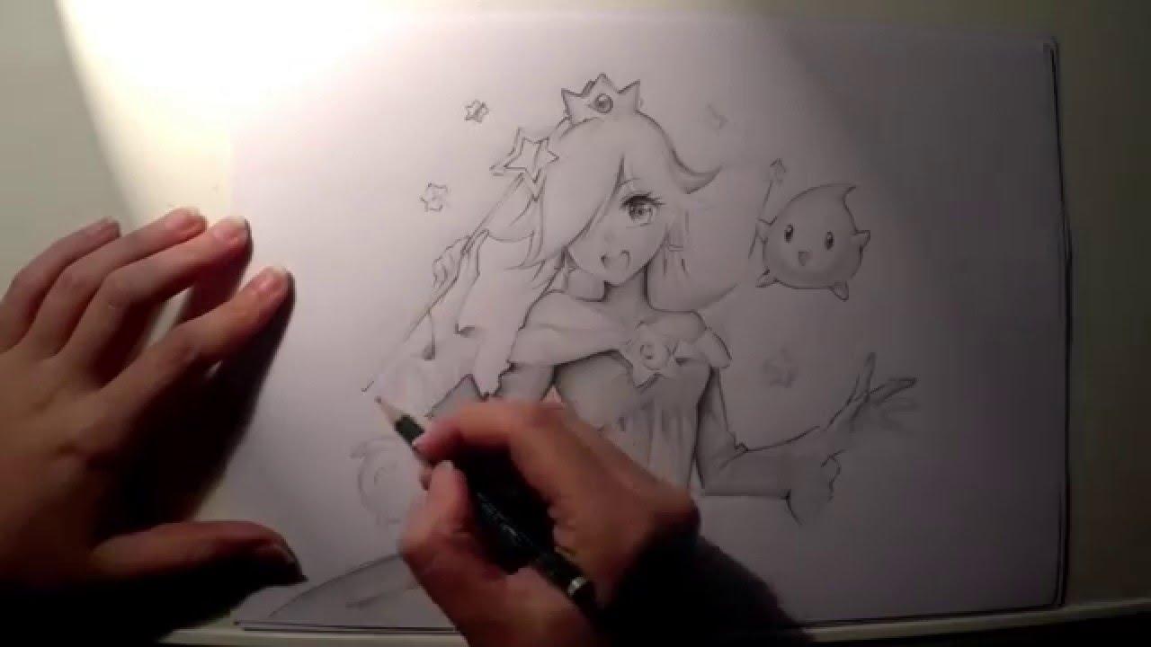 1280x720 Rosalina Speed Drawing