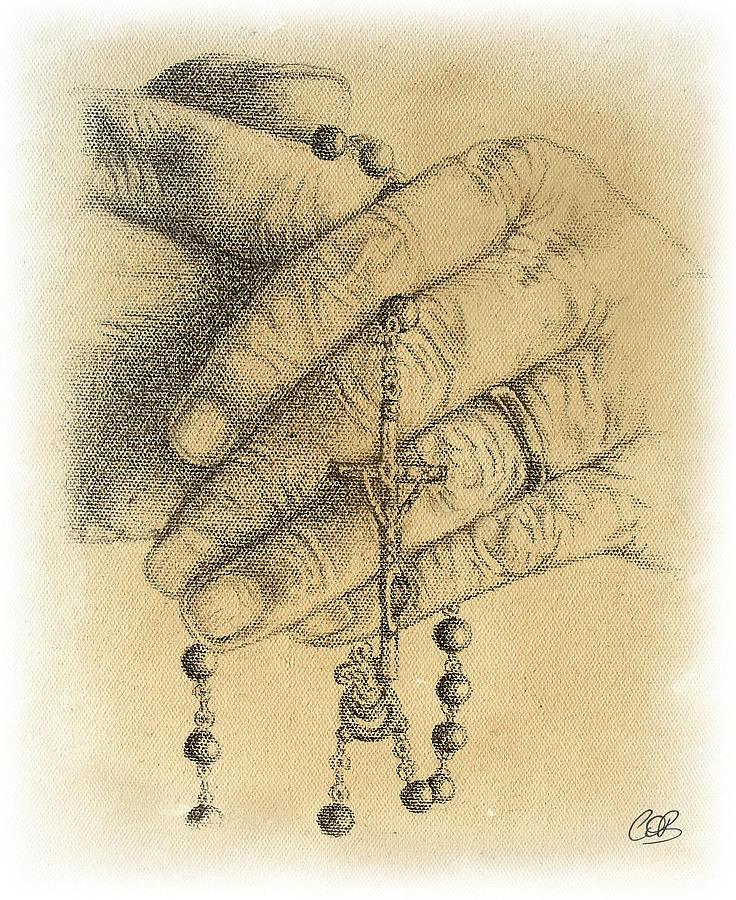 736x900 Rosary Beads Drawings Fine Art America