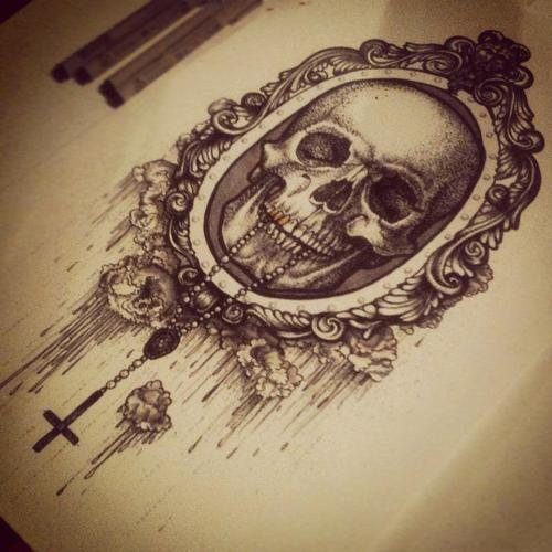 500x500 Minus The Rosary Beads And The Skull, With The Throat Cut Cameo