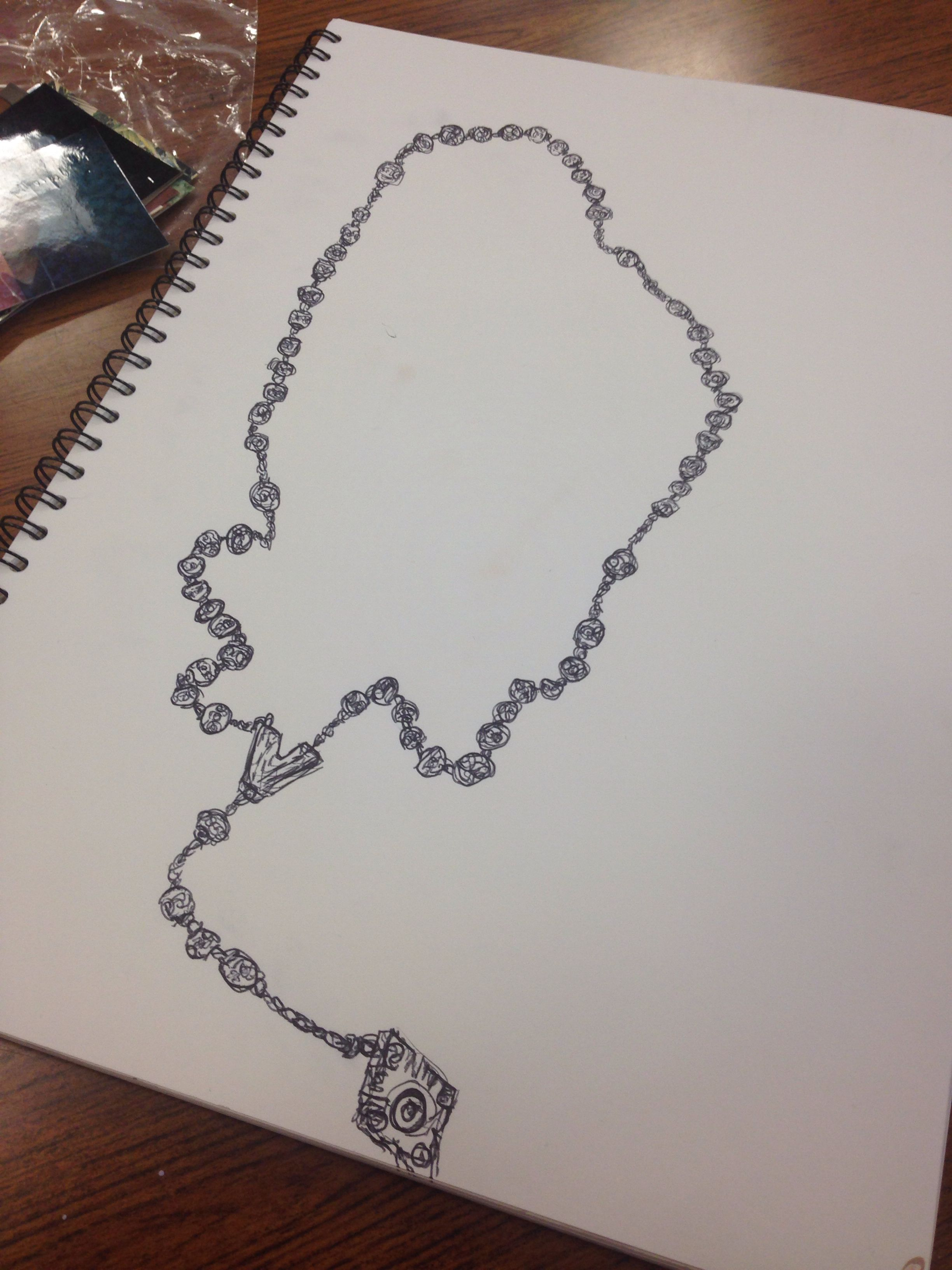 2448x3264 Rosary Bead Drawing I Did My Art Work Rosary Beads