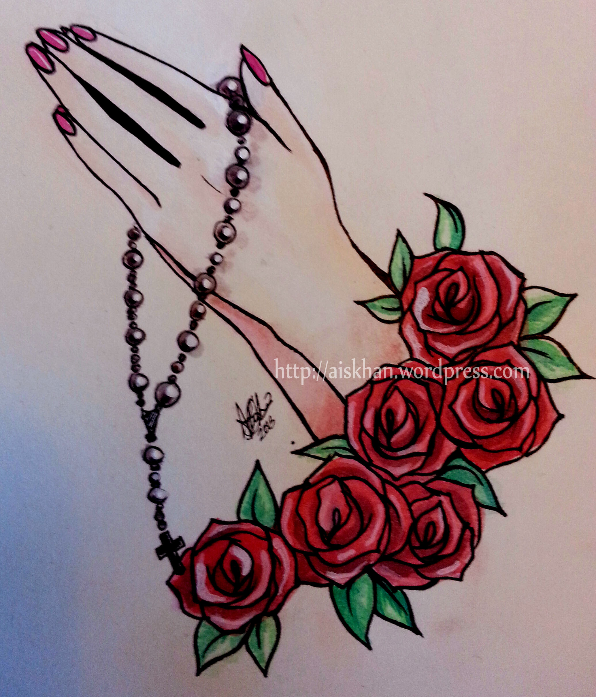 Rose And Rosary Drawing At Getdrawings Com Free For Personal Use