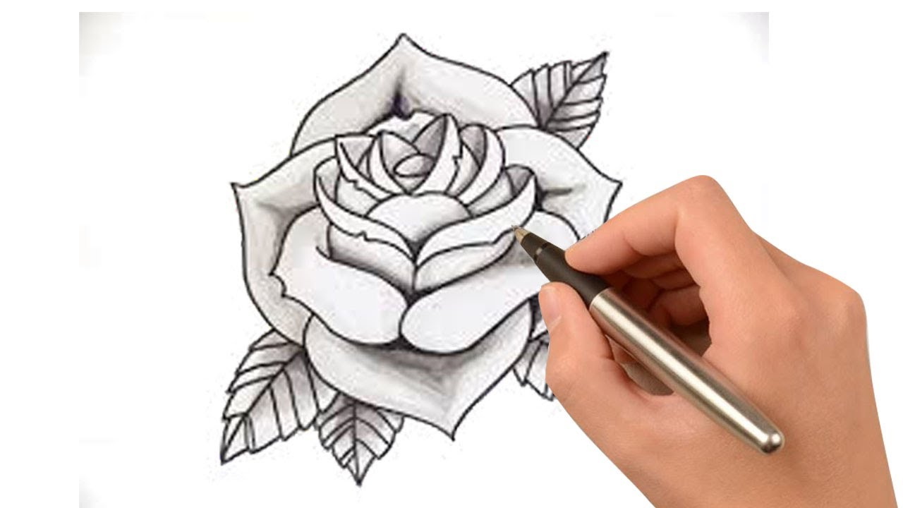 1280x720 How To Draw A Cartoon Rose Bush,