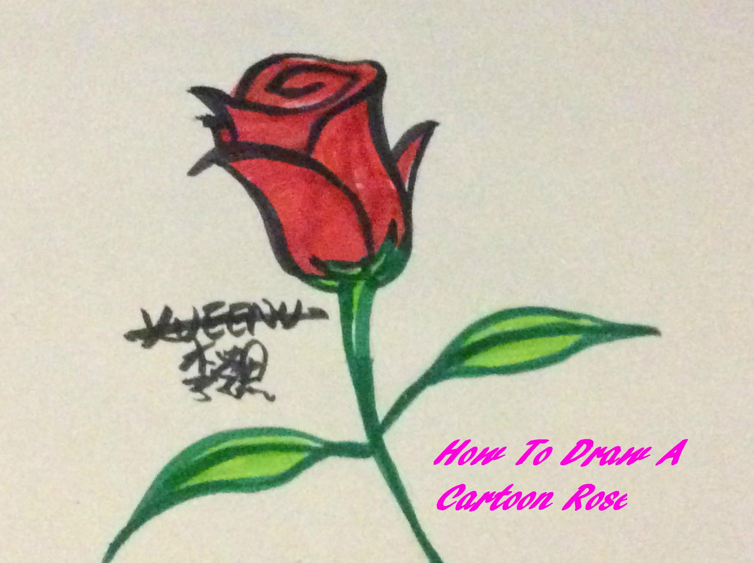 Rose Cartoon Drawing at GetDrawings.com   Free for personal use Rose ...
