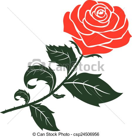 450x467 Red Rose Vector Design. Red Rose Design,vector Illustration