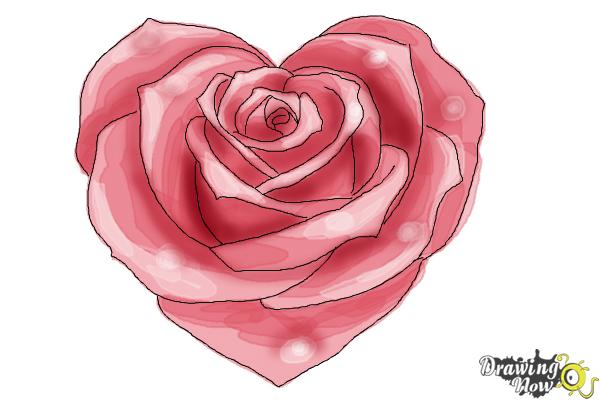 600x400 How To Draw A Heart Rose