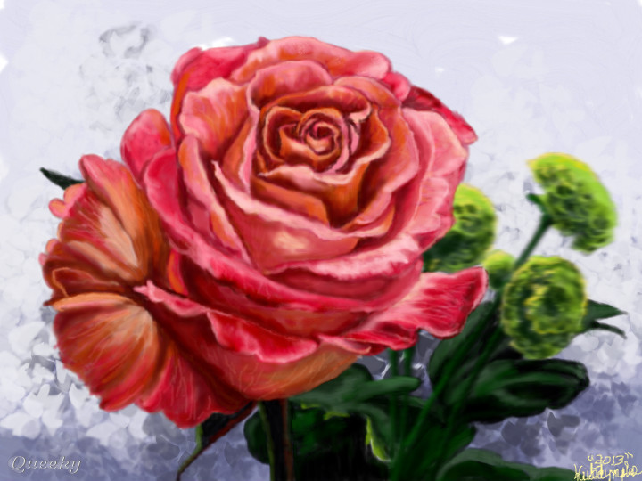 720x540 My Crazy Colored Rose A Plants Speedpaint Drawing By