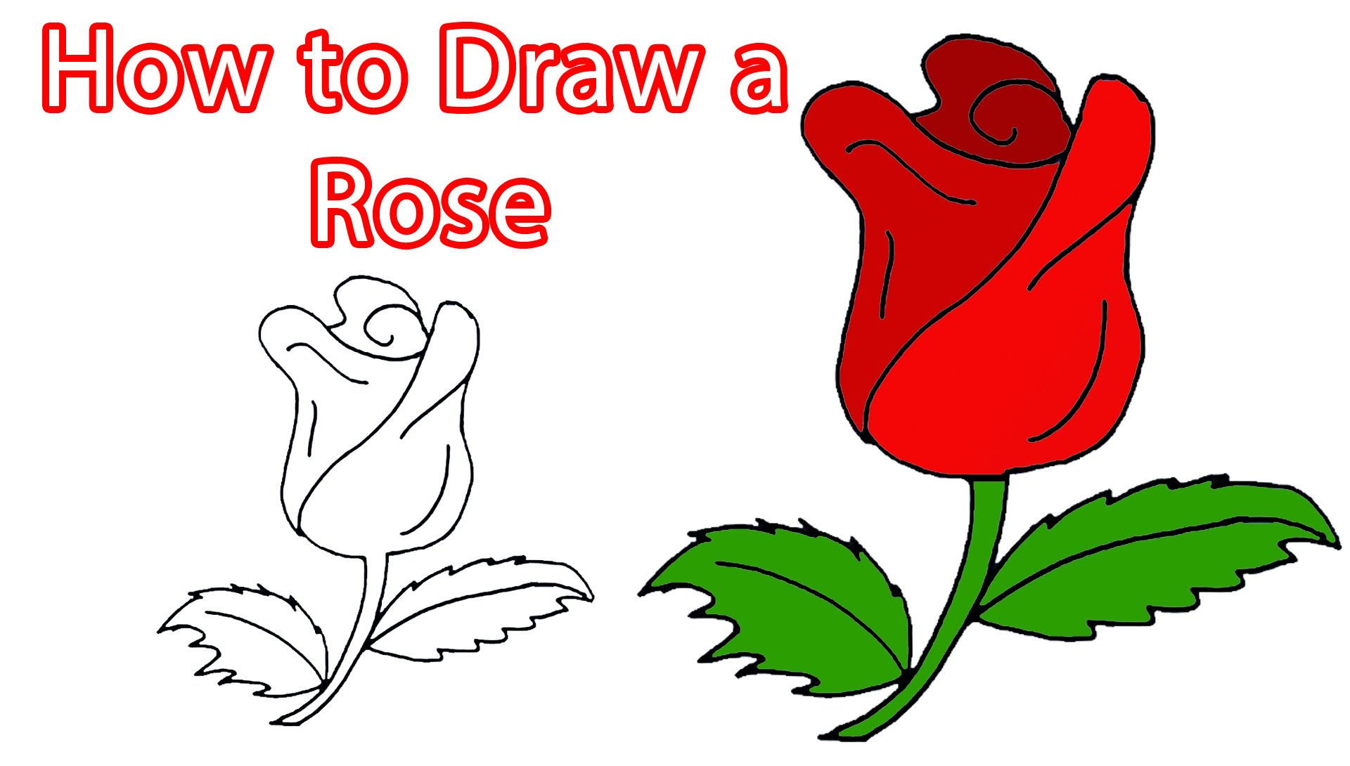 Rose Drawing For Kids at GetDrawings.com | Free for personal use ...