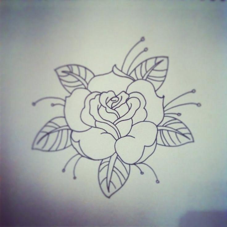736x736 Draw Stencil Simple Rose Tattoo Stencil Drawing Corel Draw Stencil