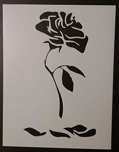 236x300 Enchanted Rose Beauty And The Beast 8.5 X 11 Custom Stencil Fast