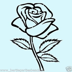 300x299 Reusable Mylar Rose Flower Stencil Airbrush Crafting Wall Art Home