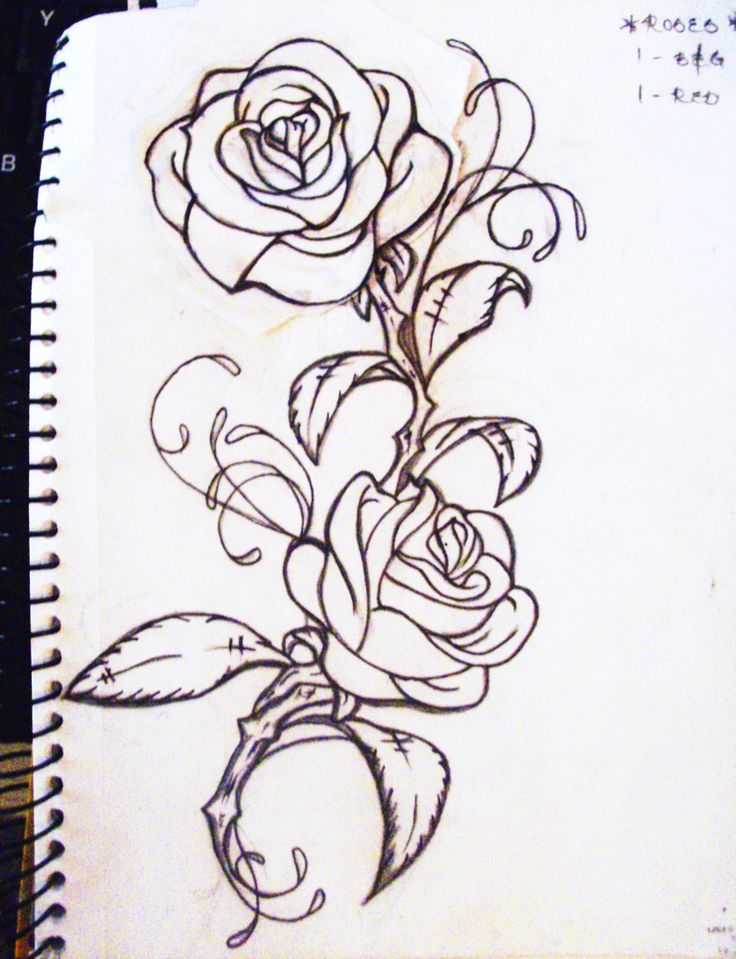 736x959 Rose Vine Tattoos