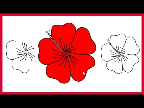 480x360 How To Draw A Rose Easy For Kids And Beginners