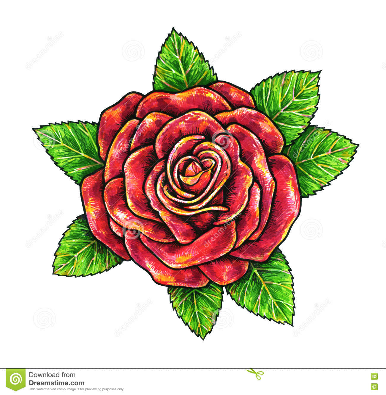 Rose Flower Drawing at GetDrawings.com | Free for personal use Rose ...