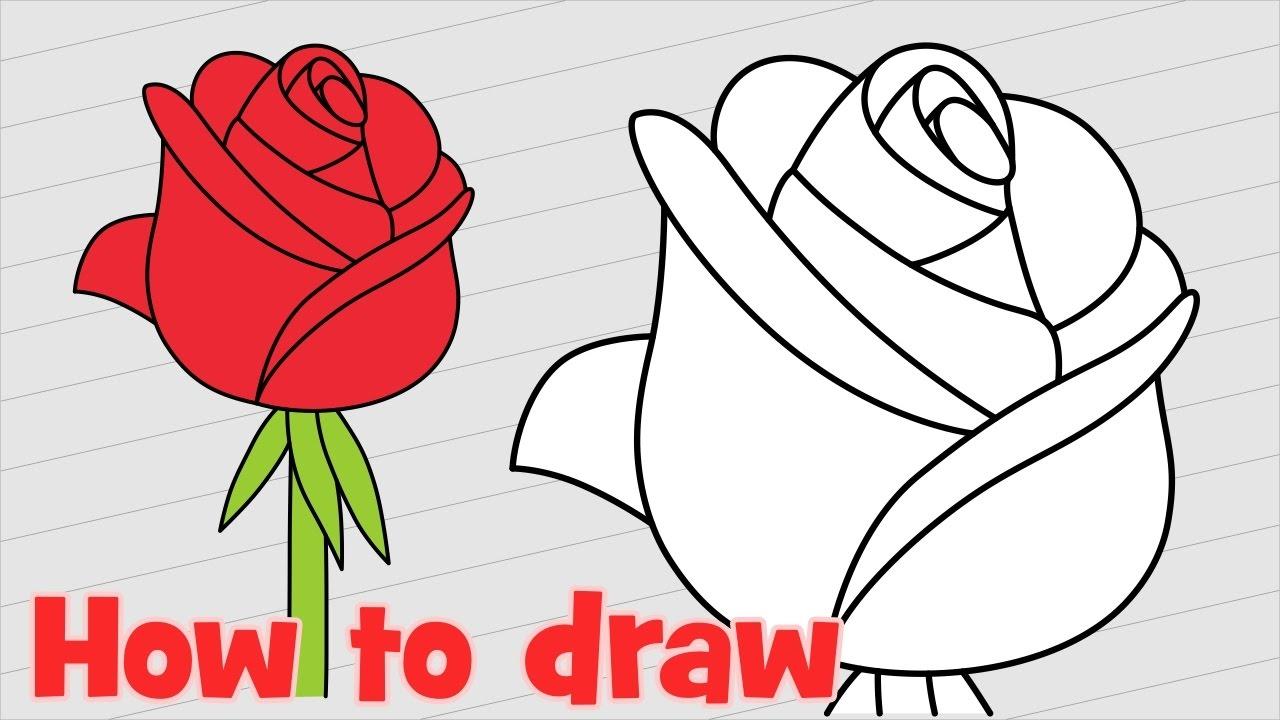 1280x720 How To Draw Flowers Step By Step For Kids