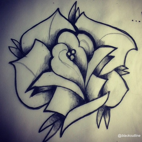 571x571 Drawn Graffiti Rose
