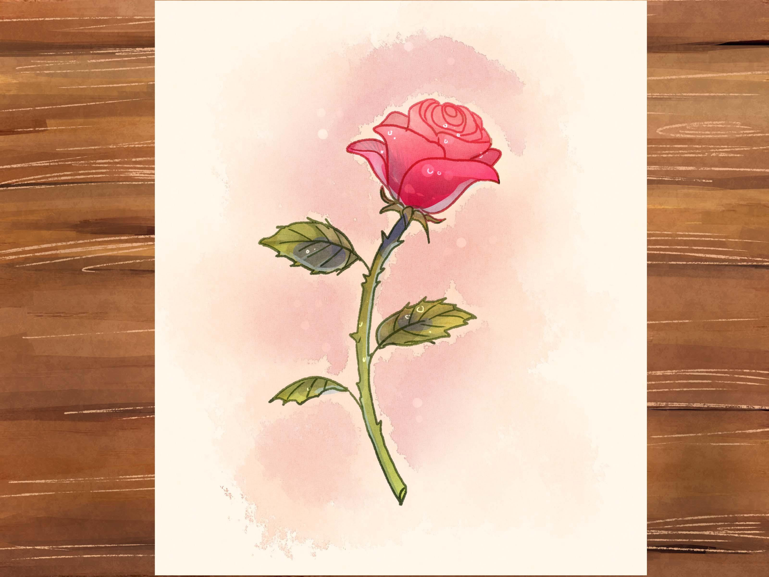 3200x2400 3 Ways To Draw A Rose