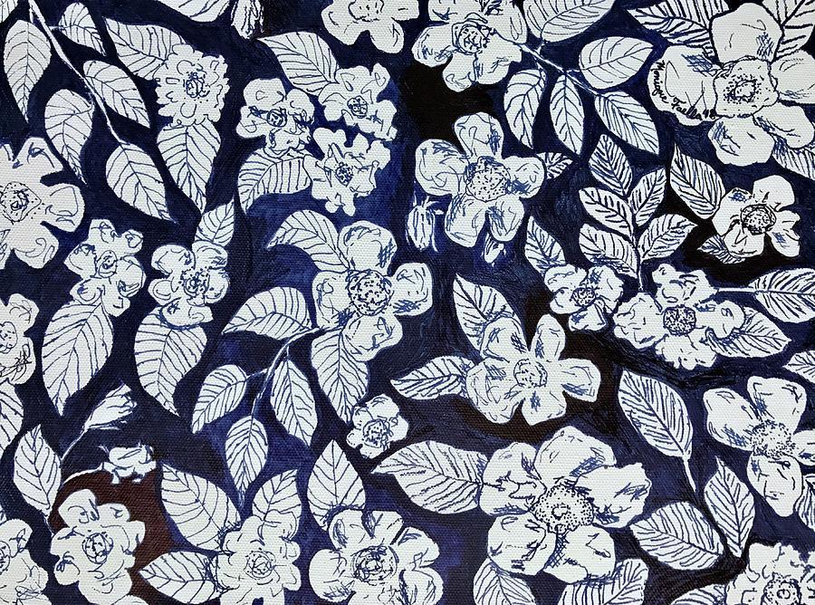900x668 Beach Rose Pattern Drawing By Monique Faella