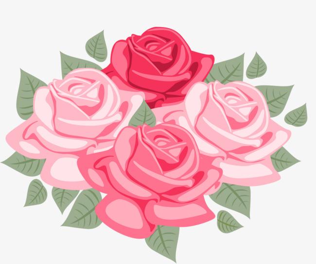 650x544 Hand Drawn Cartoon Rose Decorative Pattern, Cartoon Hand Drawing
