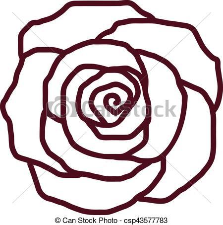 450x453 Rose Petal Outline Vector