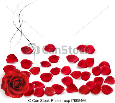 450x402 Background With Rose Petals. Vector. Clip Art Vector
