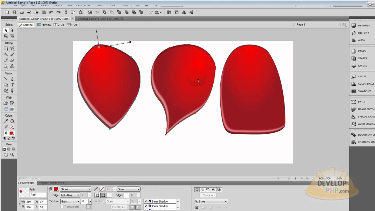 1280x720 Fireworks Cs5 Valentine's Day Vector Rose Petals Tutorial