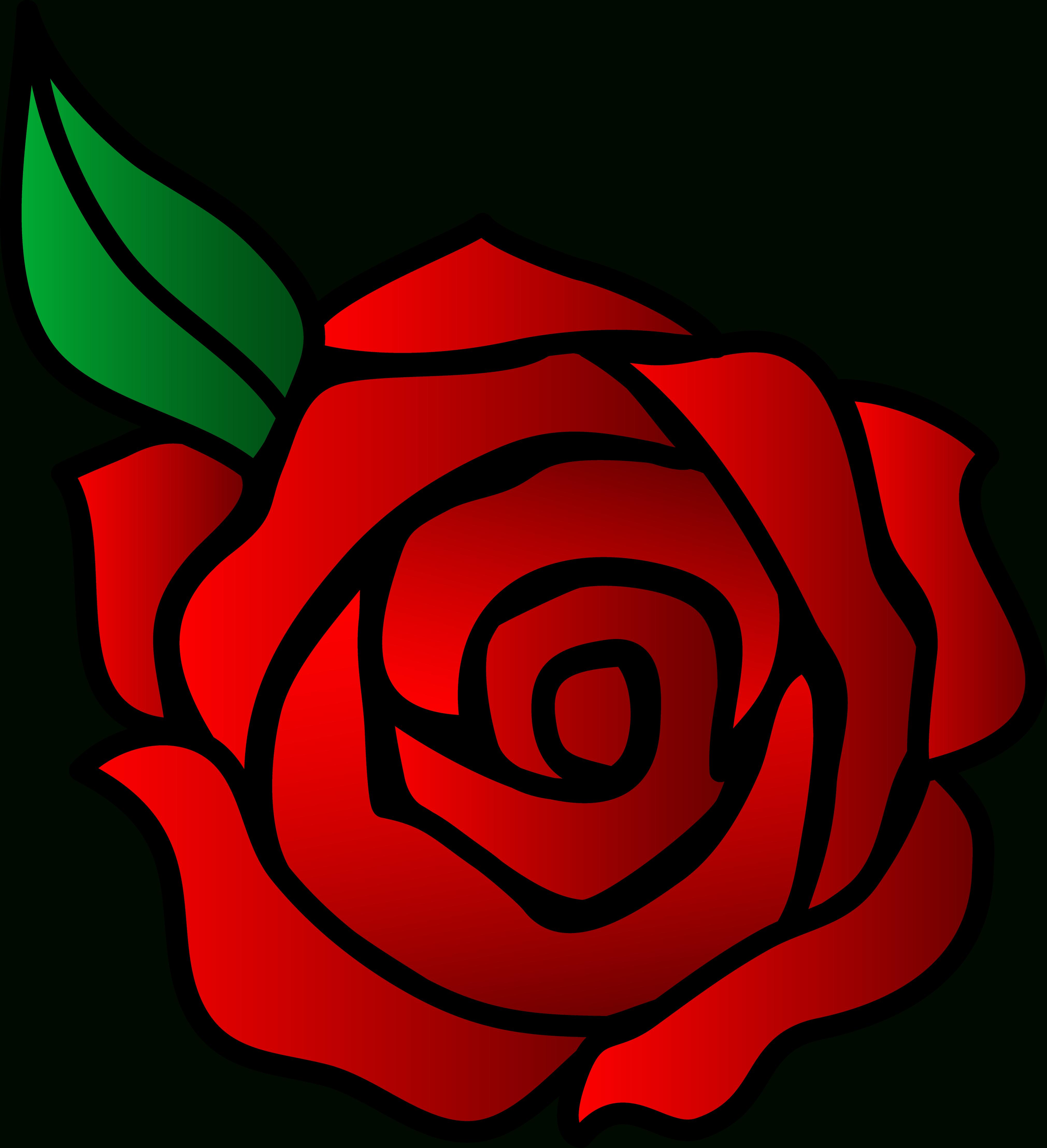 4042x4434 Cartoon Rose Drawing Rose Cartoon Drawing Free Download Clip Art