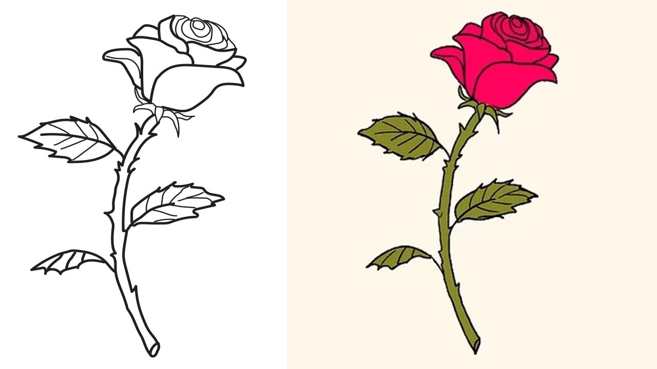 1280x720 Drawing Rose Drawing Tutorial In Conjunction With How To Draw