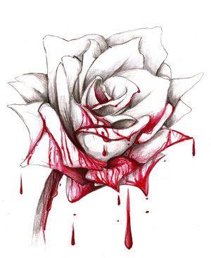 300x367 Drawn Rose Blood Drawing