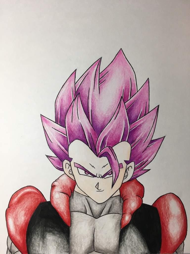 768x1024 Gogeta Black Super Saiyan Rose Drawing Dragonballz Amino