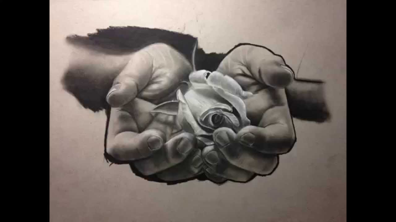 1280x720 Charcoal Sketches Of Roses Realistic Charcoal Drawing A Rose
