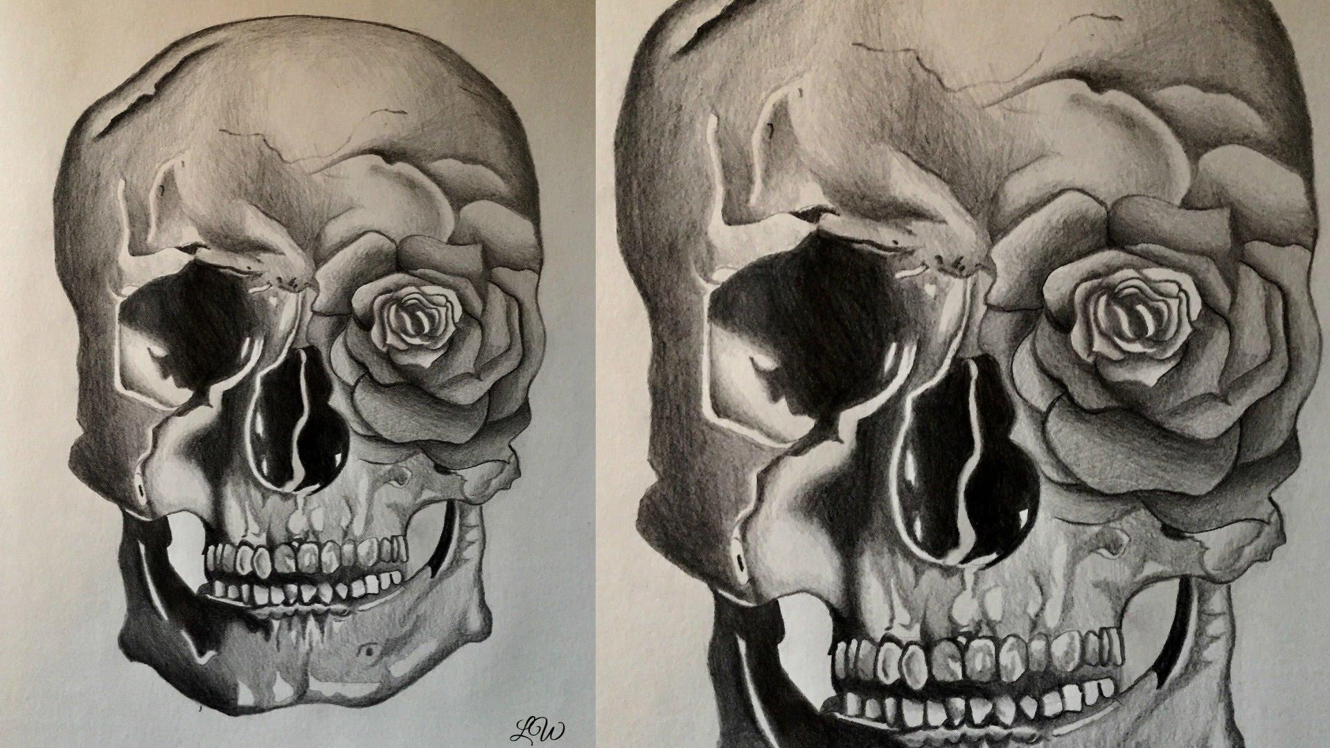 Rose Skull Drawing at GetDrawings | Free download