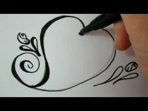 Rose Step By Step With A Heart Drawing at GetDrawings com