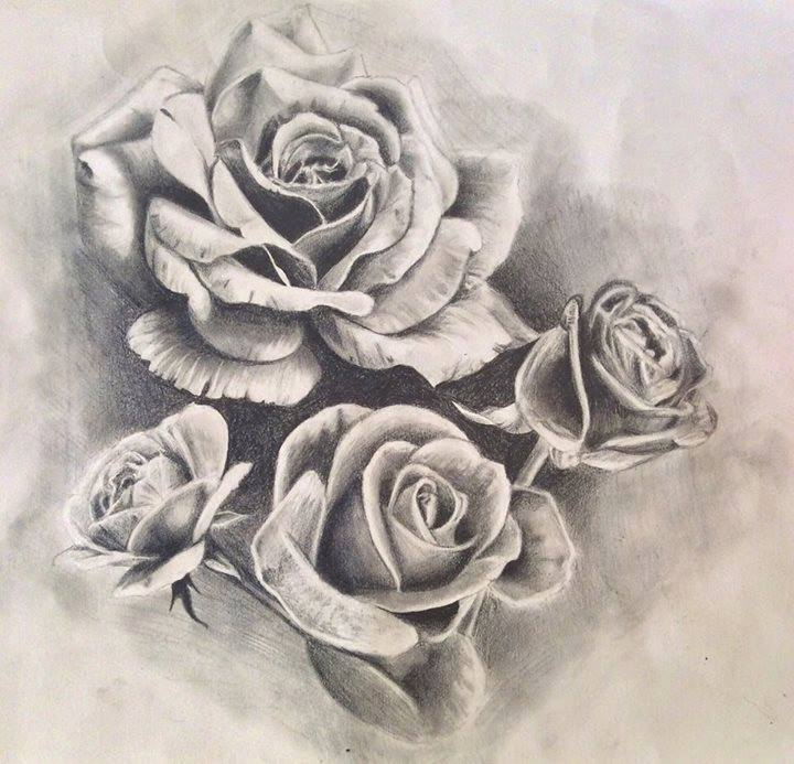 720x693 Roses Tattoo Designdrawing By Pufferfishcat