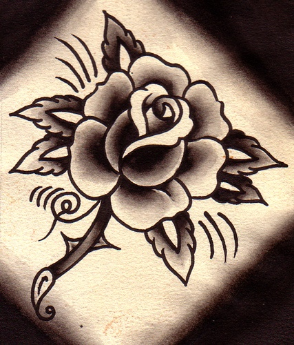 427x500 Traditional Rose Tattoo Tattoos Traditional Rose